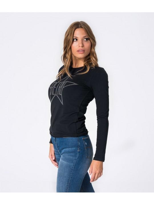 RETRO tričko dámske s dlhým rukávom Becki