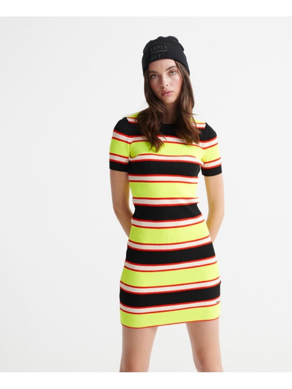Superdry šaty city neon Zelená