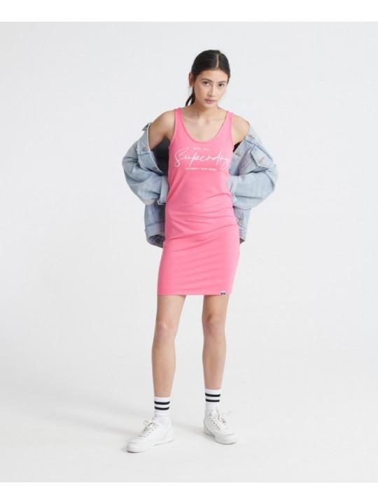 Superdry šaty mini graphic Ružová